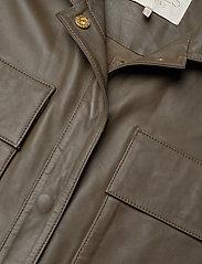 Notes du Nord - Rose Leather Jumpsuit - jumpsuits - dark olive - 2