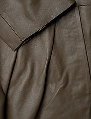 Notes du Nord - Rose Leather Jumpsuit - jumpsuits - dark olive - 3