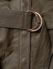 Notes du Nord - Rose Leather Jumpsuit - jumpsuits - dark olive - 4