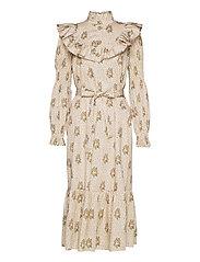 Rina Loose Dress - FLOWER DOT