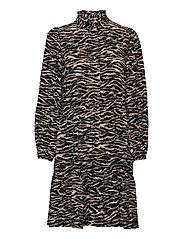 Rosie Zebra Short Dress - ZEBRA