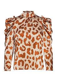 Rihanna Leopard Silk Blouse - LEOPARD