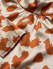 Notes du Nord - Rihanna Leopard Silk Blouse - långärmade blusar - leopard - 2