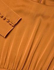 Notes du Nord - Rosalia Silk Dress - maxiklänningar - burnt orange - 2