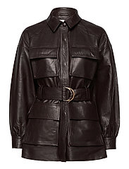 Sydney Leather Shirt - DARK CHOCOLATE