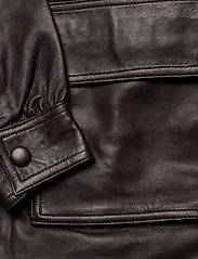Notes du Nord - Sydney Leather Shirt - skinnjackor - dark chocolate - 3