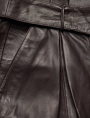 Notes du Nord - Sydney Leather Pants - skinnbyxor - dark chocolate - 3