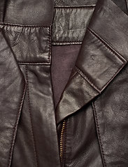 Notes du Nord - Sydney Leather Pants - skinnbyxor - dark chocolate - 4