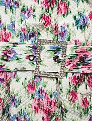 Notes du Nord - Shelly Flower Wrap Blouse - långärmade blusar - flower  dream - 3