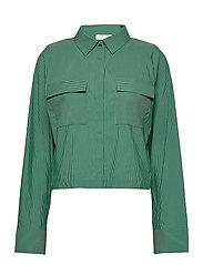 Whitney Shirt - GREEN STRIPE