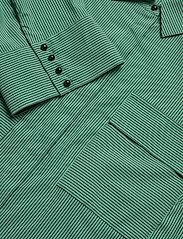 Notes du Nord - Whitney Shirt - långärmade blusar - green stripe - 2