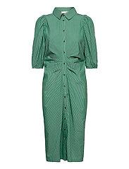 Whitney Dress - GREEN STRIPE