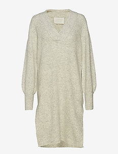 Iris Dress - LIGHT GREY MELANGE