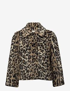 Ibi Faux Fur Jacket - sztuczne futro - leopard