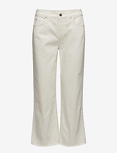 Iman Cropped Jeans - dzwony dżinsy - ivory