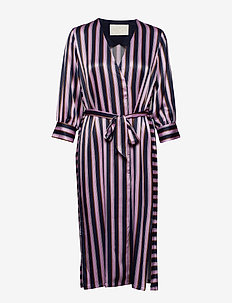 Josephine Dress - MIDNIGHT STRIPE