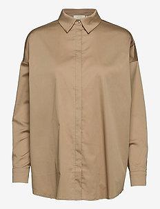Kira Shirt - långärmade skjortor - beige