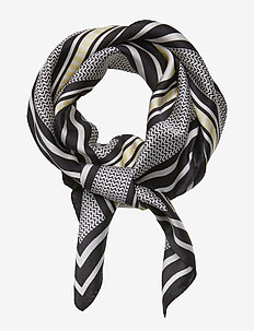 Koko Stripe Silk Scarf - LEMON STRIPE