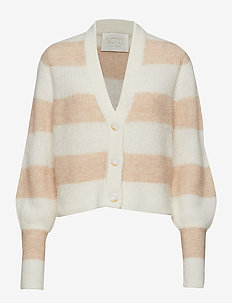 Lauren Cardigan - NUDE STRIPE