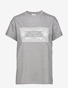 Luca T-shirt Grey Melange - GREY MELANGE