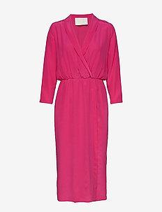 Liza Silk Dress - VERY BERRY