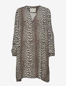 Lydia Leopard Short Dress - LEOPARD
