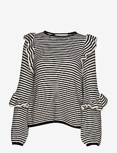 Monica Blouse - NOIR STRIPE