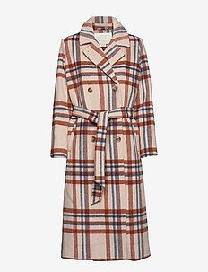 Megan Wool Coat - CHECKED