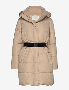 Molly Vegan Down Coat - POWDER DUST