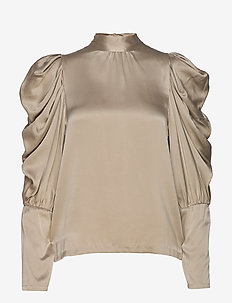 Missy Silk Blouse - CHAMPAGNE