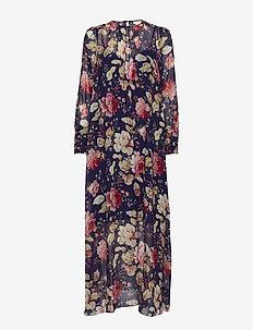 Maggie Silk Maxi Dress - AMAZING FLOWER
