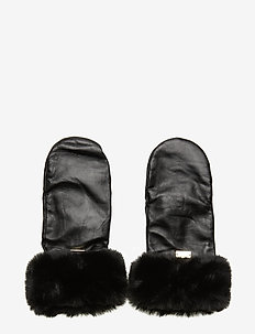 Mason Leather Mittens - NOIR