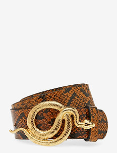 Milo Leather Belt Snake - AUTUMN SNAKE