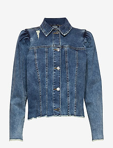 Nina Denim Jacket - mid blue wash