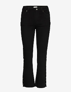 Nikita Cropped Jeans - straight jeans - noir