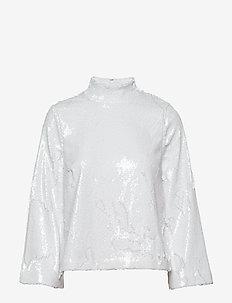 Nala Blouse - langærmede bluser - white