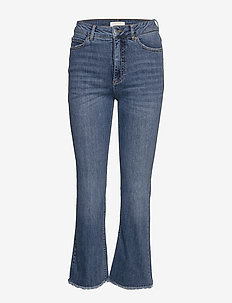 Ohio Cropped Jeans - utsvängda jeans - blue wash