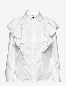 Oakley Ruffle Shirt - WHITE