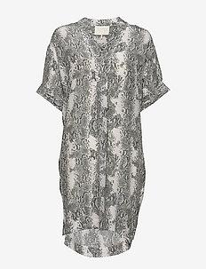 Oak Silk Dress - NOIR SNAKE
