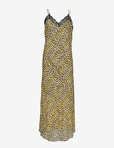 Omita Dress - LEMON LEOPARD