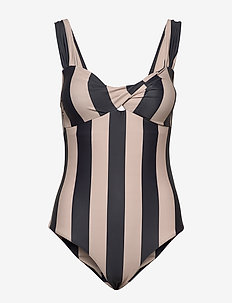 Obi Twist Swimsuit - badedragter - noir stripe