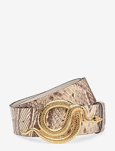 Milo Leather Belt Python - GOLD