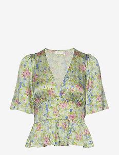 Odeon Silk Top P - bluzki z krótkim rękawem - romantic flower