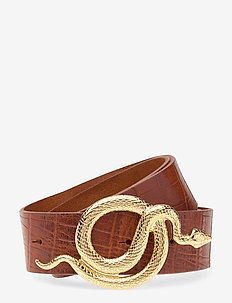 Milo Leather Belt Croco - gürtel - gold