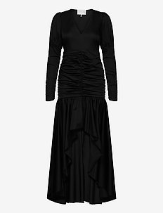 Oister Dress - midi-kleider - noir