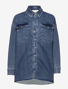 Phoenix Denim Shirt - jeansowe koszule - blue wash