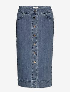 Phoenix Denim Skirt - farkkuhameet - blue wash