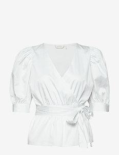 Pollie Top - short-sleeved blouses - white