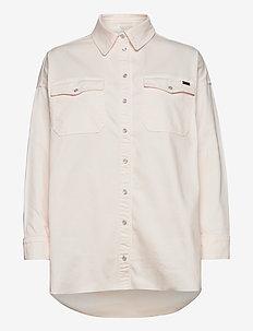 Phoenix Denim Shirt Cream - overshirts - cream