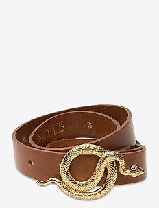 Paxton Leather Belt - skärp - cognac/gold